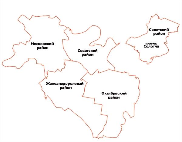 Районы города Рязани